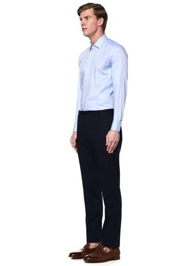 Mikro Desenli Uzun Kollu Gömlek-Etro